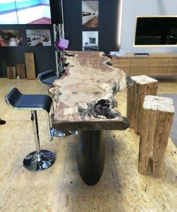 Interior - Handcrafted - Wood - Oak Table - Luxury Furniture
