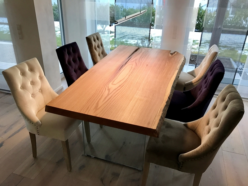 Table - Oak - Eiche - Baumkante - Büro - Möbel - Woodart